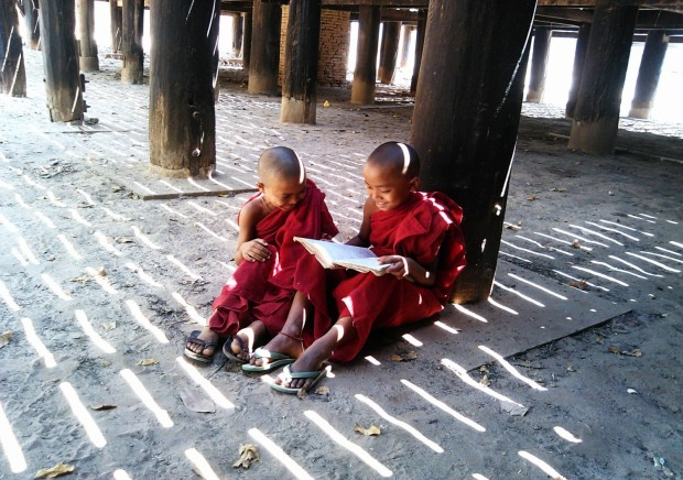 Novices in Wooden Monastery